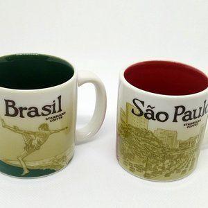 Starbucks Demitasee Espresso Cups Brazil Sao Paolo